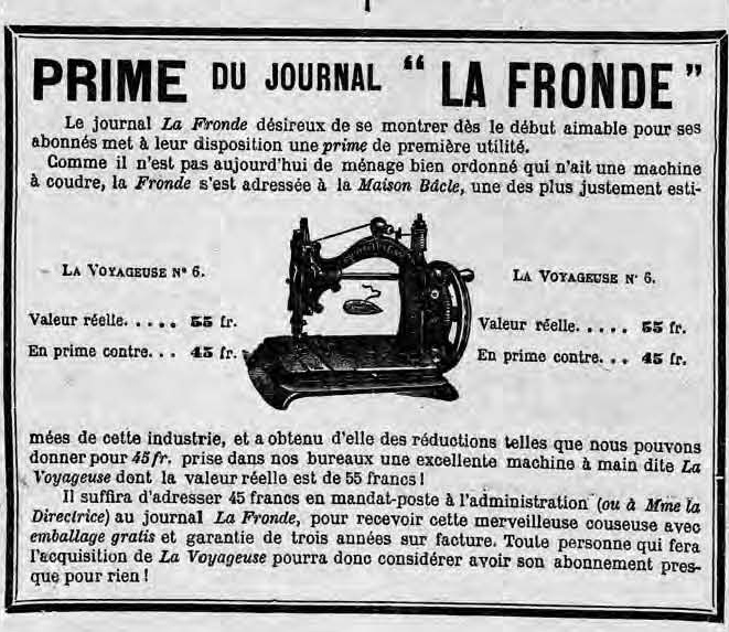 La_Fronde_-_1er_janvier_1898_-_publicité_pour_une_machine_à_coudre