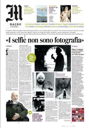 """Berengo Gardin, il ritorno a Londra del fotografo """"rigorosamente a pellicola"""" (da 'Il Messaggero' del 7aprile)"""