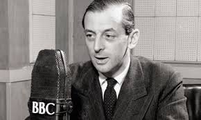 Alistair Cooke on air in 1946. BBC/Corbis