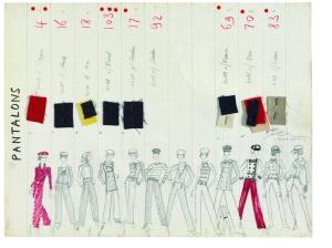 'Pantalons' collection board Spring-Summer 19